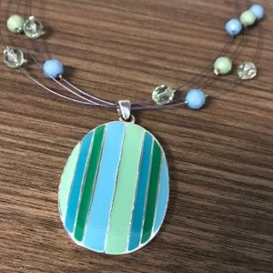 Jewelry - Beautiful Blue and Green Necklace with Tag